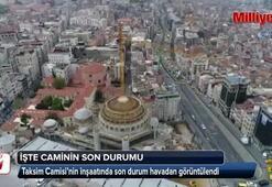 Taksim Camisi havadan görüntülendi