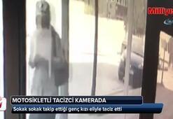İstanbul'da motosikletli tacizci kamerada