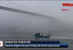 Sis İstanbul Boğazında ulaşımı etkiliyor