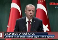 Cumhurbaşkanı Erdoğan erken seçim tarihini açıkladı