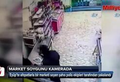 Altıpatlarla market soygunu kamerada
