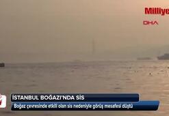 İstanbul Boğazında sis etkili oldu