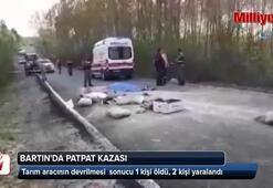 Bartın'da tarım aracı devrildi: 1 ölü, 2 yaralı
