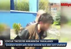 Küçük kız çocuklarına kendini polis olarak tanıtan tacizci yakalandı
