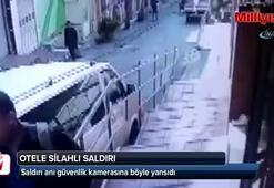Taksim'de otele pompalı tüfekle saldırı kamerada