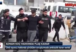 Uyuşturucudan gözaltına alınan oyuncu hakkında  flaş karar