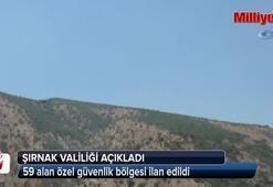 Gabar ve Cudi Dağında 59 alan özel güvenlik bölgesi ilan edildi