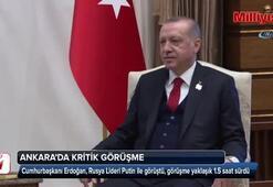 Cumhurbaşkanı Erdoğan, Putin ile görüşmesi sona erdi