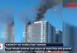 Kadıköyde inşaat halindeki bir rezidansta yangın