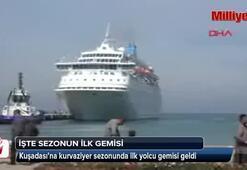 İşte sezonun ilk kurvaziyer gemisi