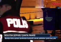 Bolu'da şüpheli çanta paniği