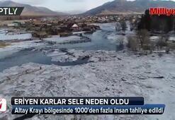 Sibirya'da sel Binden fazla kişiye tahliye