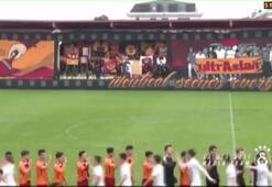 Galatasaray U19 takımının maçında koreografi