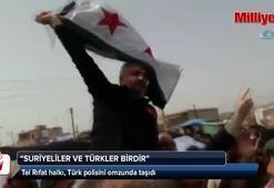 Tel Rıfat halkı, Türk polisini omzunda taşıdı