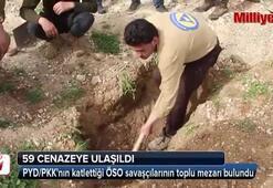 PYD/PKKnın katlettiği ÖSO savaşçılarının toplu mezarı bulundu