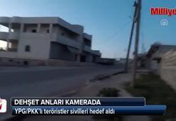 Dehşet anları kamerada: YPG/PKK sığınaktaki sivilleri vurdu