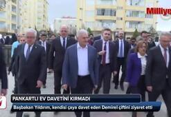 Başbakan Yıldırım, pankartlı ev davetini kırmadı