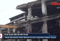 AKM'nin yıkım çalışmaları aralıksız sürüyor