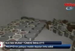 Sultan Murat Tümeni, Afrin'de PKK/PYD'nin patlayıcı madde depolarını imha etti
