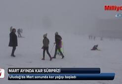 Mart sonunda Uludağa kar sürprizi