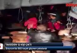 Erzurum'da 502 kaçak göçmen yakalandı