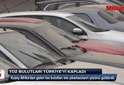 Toz bulutları Türkiyeyi kapladı