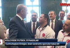 Cumhurbaşkanı Erdoğan, down sendromlu sporcuları kabul etti