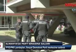Almanya'da PYD/PKK yandaşları, Sosyal Demokrat Parti merkezine saldırdı