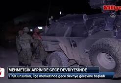 Mehmetçik Afrinde gece devriyesinde