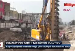 Osmaniyede tarihi taş köprü bulundu