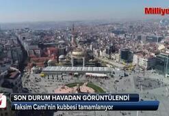 Taksim Camisi'nin ana kubbesinde sona doğru