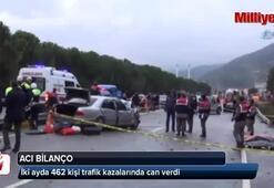 2 ayda 462 kişi kazalarda öldü
