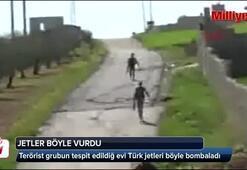 Terörist grubun tespit edildiğ evi Türk jetleri böyle bombaladı