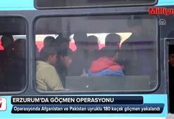Erzurumda 180 kaçak göçmen yakalandı