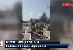 Adende bombalı araçla saldırı: 4 ölü