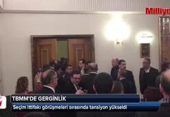 CHP ve MHPli vekiller arasında kuliste kavga çıktı