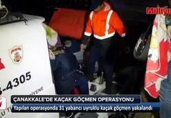 Çanakkalede 31 kaçak yakalandı