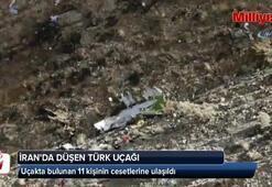 İran'da düşen Türk uçağında bulunanların cesetlerine ulaşıldı