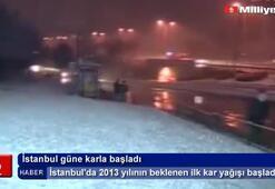 İstanbulda beklenen kar yağışı başladı...