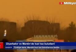 Diyarbakır ve Mardinde kızıl toz bulutları