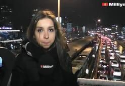 İstanbulda kar yağışı sürüyor
