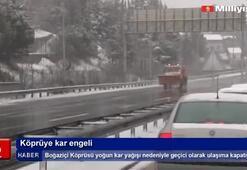 Köprüye kar engeli