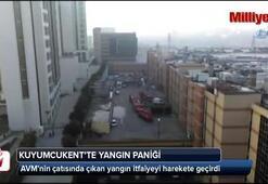 İstanbul Kuyumcukentde yangın paniği