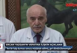 Usta oyuncu Ercan Yazgannın vefatına ilişkin açıklama