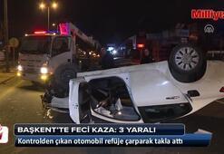 Başkentte feci kaza