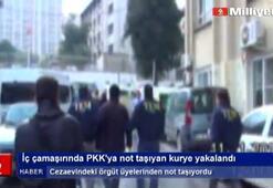 İç çamaşırında PKKya not taşıdı