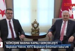 Başbakan Yıldırım, KKTC Başbakanı Enhürman'ı kabul etti