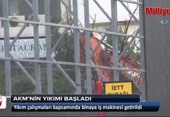 AKMnin yıkımı için iş makineleri çalışmaya başladı