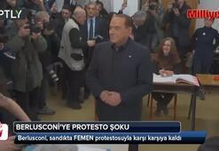 Berlusconi'ye protesto şoku