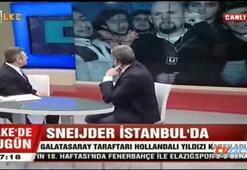Fenerli muhabirin Galatasaray tarafatarı ile zor anları